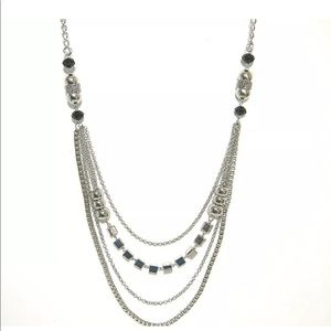 Jewelry - Bright Polished Silver Long Multi Chain Necklace